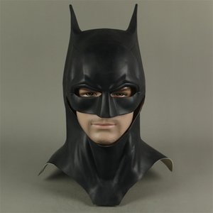 the Batman Bruce Wayne Latex Mask Superhero Movie Cosplay Costume Halloween Party Masks