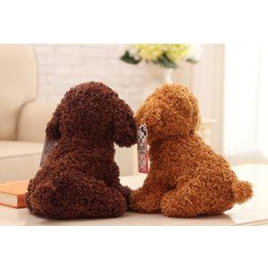 18cm simulación peluche perro caniche peluche juguetes lindo animal doblado muñeca para regalo de navidad sqczfo abc2007