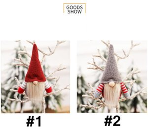 Weihnachten Gesichtslose Gnome Anhänger Weihnachtsbaum Hängende Puppe Dekoration Für Home Anhänger Geschenk Drop Ornament Neujahr Party Supplies EWD2123
