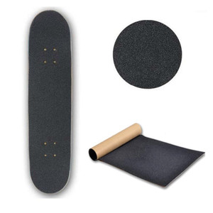 Black Skate Scooter Sandpaper Sticker Skateboard Deck Paper Sandpaper Grip nastro Griptape Skating Scooter Sticker 80cm * 20cm1