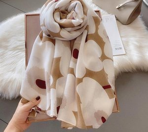 Luxury-2020 New Cotton Ombre Flower Print Scarf Shawls Long Floral Beach Wrap Hijab Free Shipping