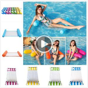 UR83 Moda Iatable Yüzer Su Hamak Lounge Yatak Sandalye Yaz Kickboards Havuz Float Yüzme Havuzu Iatable Yatak Plaj Aracı Çalma