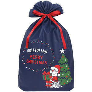 Christmas gift drawstring pocket custom Christmas canvas gift bag candy storage bag factory direct sales
