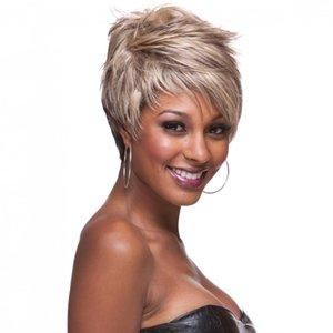 Black Ladies Wig Short Curly Hair Synthetic Headgear