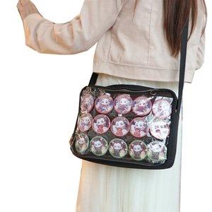 Сумка Humuely Sumbing ITA Сумка Женщины One One Beed Bag Японский прозрачный односторонний холст Мягкие девочки Прекрасная маленькая свежая четкая сумка Q4 C1223
