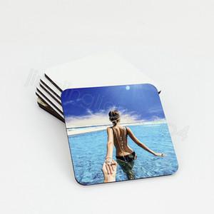 10 * 10cm di sublimazione Coaster vuoto di legno Table Mats Isolamento termico a trasferimento termico Cup Pad partito Coaster fai da te favore FFA4472-4