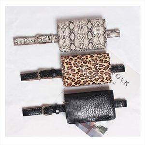 Women Bag serpentine Waist bag PU leather Waist Pack Snakeskin Fanny Pack Drop Belt Beach Hip Bags Handbags PU Wallet A33