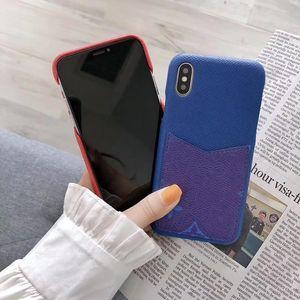 Yeni Moda Tasarımcısı Telefon Kılıfı iphone 11 11pro Max 8Plus XS XR XSMAX En Kaliteli Deri Kart Cep Telefonu Kapak iphone 7 Artı