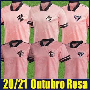 2020 2021 Camisa de Flamengo Outubro Rosa Football Jersey Sao Paulo SAO SC Internacional Pink Special Soccer Tehersys Человек Униформа 20/21