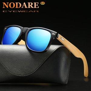 NODARE 2020 Mens óculos polarizados Walnut Madeira Espelho Lens óculos de sol Mulheres Brand Design máscaras coloridas Handmade 2140