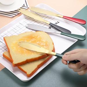 Acero inoxidable cuchillo de mantequilla occidental pan cuchillo de mantequilla Queso cuchillo de la fruta del acero inoxidable de 13 colores T3I51279