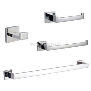Bagnolux Edelstahl 304 Badezimmer Zubehör-Set Einzelhandtuchhalter Kleiderhaken Toilettenpapierhalter Handtuchring Oberfläche poliert bbyrYs