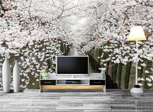 fond d'écran fleur beau mur moderne nordique minimaliste avec paysage de cerise HD beau papier peint de paysages