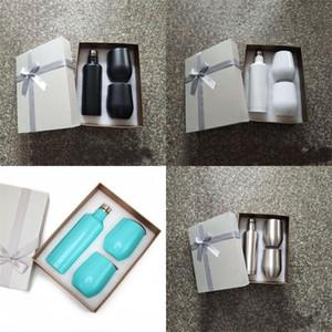 Stainless Steel Wine Glasses Gift Set 500ml red wine bottle 12oz wine tumbler set egg cups Best Gift for Christmas Custom color 1 L2
