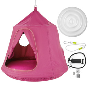 Family HangOut Hanging Pod for Entire Family pink Sturdy Lightweight and portable Spacious and comfortable Easy to pack