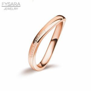 Fashion Jewelry Wholesale High Quality Love For Infinity Irregular Distortion Ring 316l Stainless Steel Woman Love Tail Ring sqcShp bdecoat
