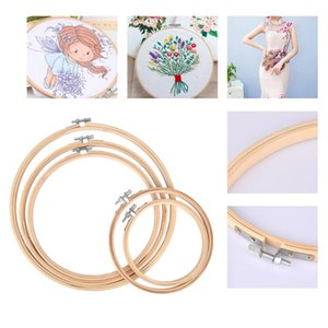 5 unids Diferentes tamaños Bordado Hoop Circle Set Bamboo Frame Art Craft DIY Cross Stitch China Tradicional Coser Manual Herramientas manuales