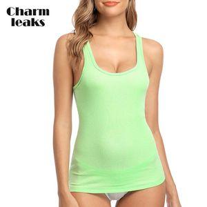Charmleaks Women Camisole Tanks Basic Camis Tops Cotton Soft Solid Night Sleepwear Jogging Wear Fitness Top