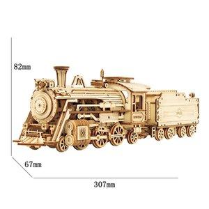 Robotime 3D لغز ألعاب خشبية مقياس نموذج سيارة مبنى أطقم للشباب 200930