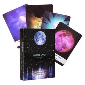 44pcs-Pack Moonology Oracle Cards Englisch Ratgeber Oracle Karten Deck-Party-Aktivitäten in der Familie Brettspiel Moonology Tarot-Karten bbysrw