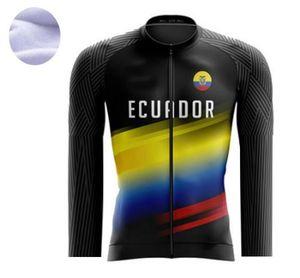 2021 Ecuador Winter fleece thermal cycling jersey  winter Cycling Clothing ciclismo maillot MTB P8