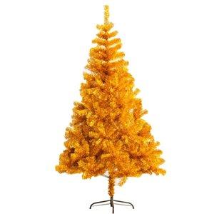 Cor de ouro quente Árvore de Natal Home Decoração Figurines de Alta Qualidade PVC Santa Tree Decor Ornament Acessórios Acessórios