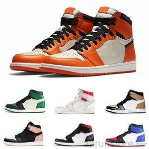 1 High OG Travis Scotts Dark Mocha 1s basketballs Shoes Obsidian UNC Mid Smoke Grey Twist Mens Trainers Jumpman Pink Sneakers With Box K2R5