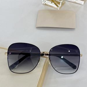 جديد كبير المسامير البيضاوي النظارات الشمسية متصلة حجم الإطار GG0706 تصميم أعلى مع الصغار الأزياء حملق قناع قناع الشمس الشعبية GG0706S عدسة جامبل