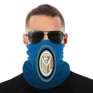 Inter Mailand Paisley Football Design Magie Anti-UV-Bandana Luxus Stirnband Mutilfunction Kopfbedeckungen Schals Masken