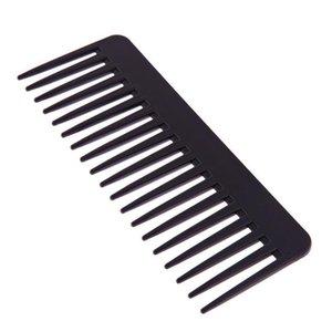 Peine Peine Negro Plástico Ancho Dientes Peine Ondulado Pelo Styling Dentangling Wide Peine Salon Hairstyling Barbers Massa SQCIHQ