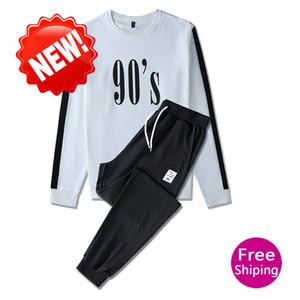 Autumn winter designer 90s digital print set brand high quality loose Pullover new casual cotton sweatshirt