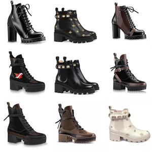 Designer Martin Boots Desert Boot Donne Boots Stivali invernali100% Pelle Genuine Stampa Lady Stivaletti 5cm 9cm Chunky Heel Stivaletti