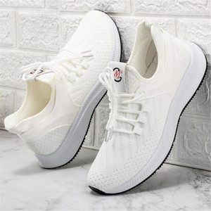 2020 summer new sports casual shoes breathable comfortable men's shoes white versatile running mesh casual shoesW03