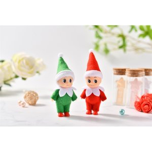 Free Shipping 5 PCS LOT PCS Baby Elf Dolls with Feet Shoes Elf Toy with Movable Arms and Legs Christmas Baby Elves Doll 201030