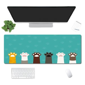 Office Table Cat Mousepad Gaming Mouse Pad Large Mouse Pad Gamer Big Mouse Mat Computer Mousepad Rubber Surface Keyboard Desk Mat