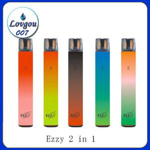 Ezzy Super 2 in 1 Design Vape-Einweg-900mAh-Batterie 6.5ml Pod 2000 Puffs PK Pro Lux Air Bar