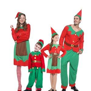 2020 ocasiões especiais Família Natal Papai Noel traje cosplay ano novo fantasia vestido de roupa conjunto família roupas combinando roupas