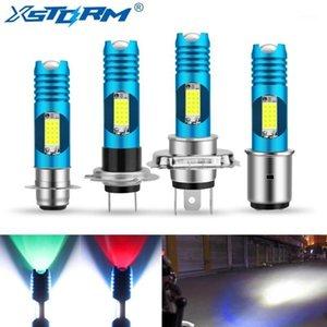 Фары автомобиля H7 P15D H6 BA20D LED H4 мотоцикл фар лампочки COB RGB Смена лампы Moto огни мотоцикл аксессуары 12V 24V 6000K Whi