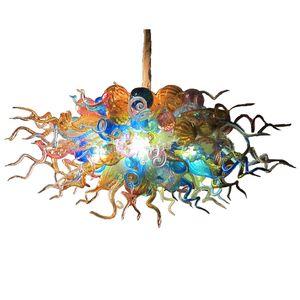 Indoor decor modern led chandelier lighting living room multi color art glass pendant lights hand blown glass chandelier