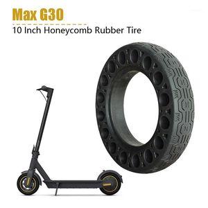 Pneus pleins en caoutchouc de 10 pouces pour ninebot max Max scooter électrique Absorbeur Amortisseur Amortisseur Tire Black1