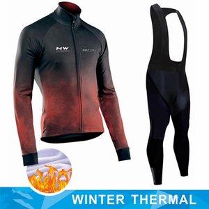 Northwave Sıcak 2021 Kış termal polar Bisiklet Giyim NW erkekler Jersey elbise açık sürme bisikleti MTB giyim Önlüğü pantolon seti