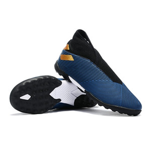 Высокие Вершины бутсы Nemeziz 19,3 Laceless В ТФ Футбол Бутсы Nemeziz Месси 19,3 360 Ловкость Крытый Turf Детская обувь
