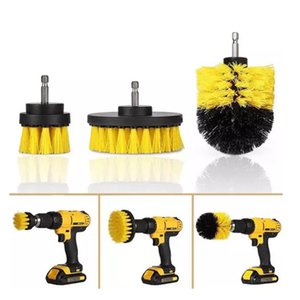 Power Scrubber Brush Set For Bathroom Drill Scrubber Brush For Cleaning Cordless Drill Attachment Kit Power Scrub Yellow C1007