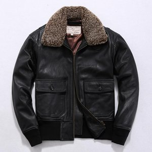 Tcyeek Winter 100% Real Leather Coat Men Autumn Clothes 2020 Streetwear Natural Fur Collar Genuine Cow Leather Jacket Top LW2376