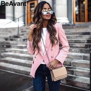 BeAvant 우아한 버튼 사무실 여성 재킷 캐주얼 긴 소매 가을 겨울 여성 재킷 재킷 사무실 숙녀 재킷 코트