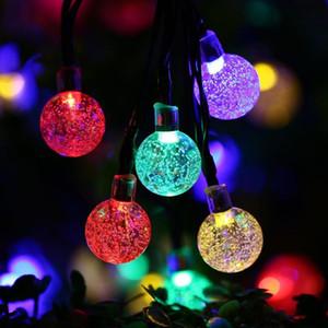 كريستال الكرة قطرة الماء بالطاقة الشمسية غلوب أضواء الجنية 8 تأثير العامل لفي الهواء الطلق حديقة عيد الميلاد الديكور أضواء عطلة FWB2388