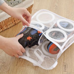 Hanging Dry Sneaker Mesh Laundry Bags Shoes Protect Wash Machine Home Storage Organizer Accessories Supplies Laundry Washing Bag C0125