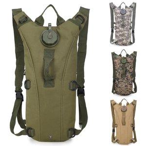 3L sacchetto di acqua Cimbing escursione di campeggio tattica di nylon dello zaino di idratazione sport esterni durevoli Bere Borse 6 colori