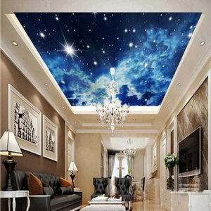 Dropship Photo Wallpaper Dreamy Blue Sky Zenith Murals Wallpaper Ceiling Painting Living Room Background Wall Paper 3d