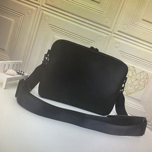 High Quality Messenger Bag Mono Embossed Shadow Soft Leather Mens Crossbody Bags 2 Piece Set Fashion Man Shoulder Bag with Purse Wallet